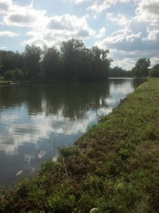 Erie Canal ten miles east of Rochester, NY. Photo by Jeanne Gehret