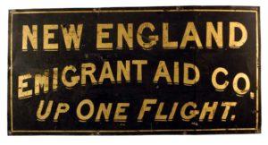 Emigrant Aid sign